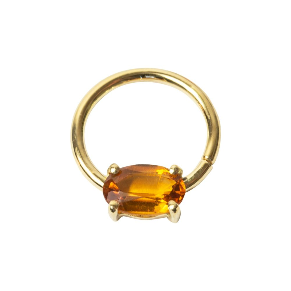Kim, 18 carat yellow gold Seam ring