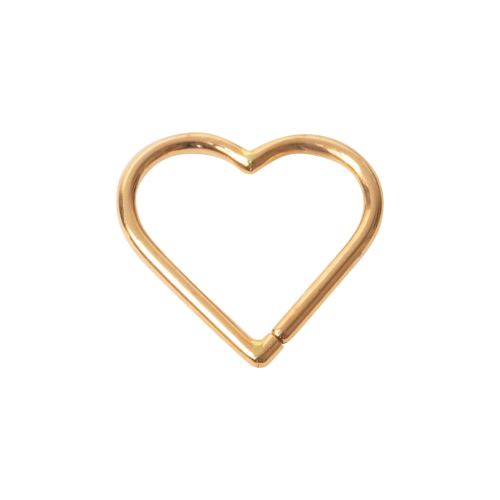 Heart of gold Seam ring 1.2 x 10 mm helix piercing, daith piercing