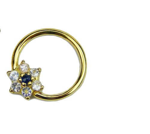 Floret Seam Ring, 18 carat Yellow gold