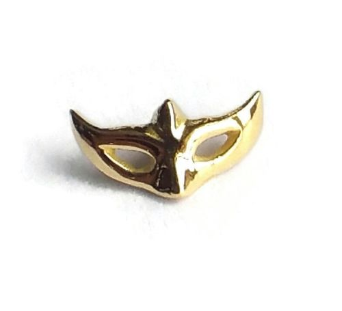 Mask, 18 carat yellow gold, front only