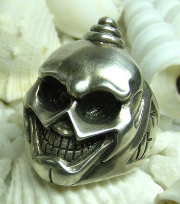 Tibetan skull silver  ring