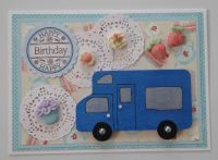 "Motor Home Magnet Greeting Card ""Happy Birthday"" 5"" x 7"""