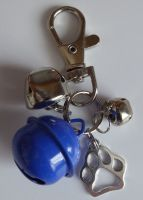Jake's Walkies Jingle Bells Key Ring for Partially Sighted or Blind Dogs  BLUE PAW