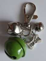 Jake's Walkies Jingle Bells Key Ring for Partially Sighted or Blind Dogs  GREEN TOP DOG