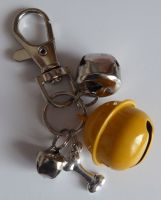 Jake's Walkies Jingle Bells Key Ring for Partially Sighted or Blind Dogs  YELLOW BONE
