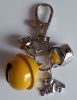 Jake's Walkies Jingle Bells Key Ring for Partially Sighted or Blind Dogs  YELLOW I LOVE MY DOG