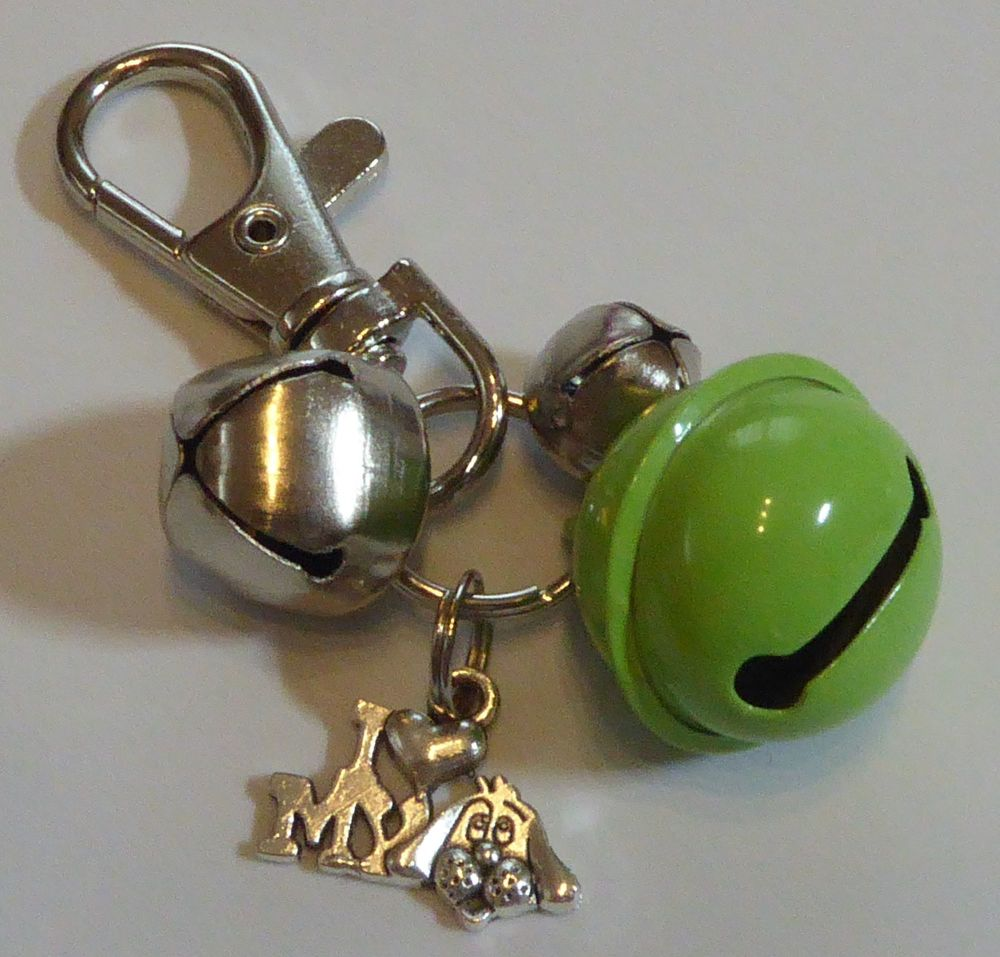 Jake's Walkies Jingle Bells Key Ring for Partially Sighted or Blind Dogs  S