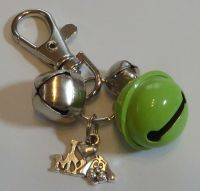 Jake's Walkies Jingle Bells Key Ring for Partially Sighted or Blind Dogs  SAGE GREEN I LOVE MY DOG