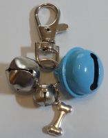 Jake's Walkies Jingle Bells Key Ring for Partially Sighted or Blind Dogs  BABY BLUE BONE