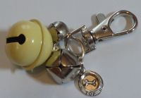 Jake's Walkies Jingle Bells Key Ring for Partially Sighted or Blind Dogs  CREAM BOWL