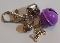 Jake's Walkies Jingle Bells Key Ring for Partially Sighted or Blind Dogs  LILAC TOP DOG