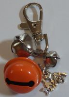 Jake's Walkies Jingle Bells Key Ring for Partially Sighted or Blind Dogs ORANGE I LOVE MY DOG