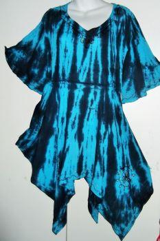 Gorgeous frill hippy tye dye top
