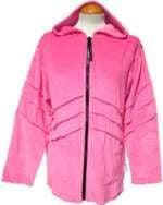 Snuggly baby pink pixie hood velvety jacket  [l/xl or xxl ]