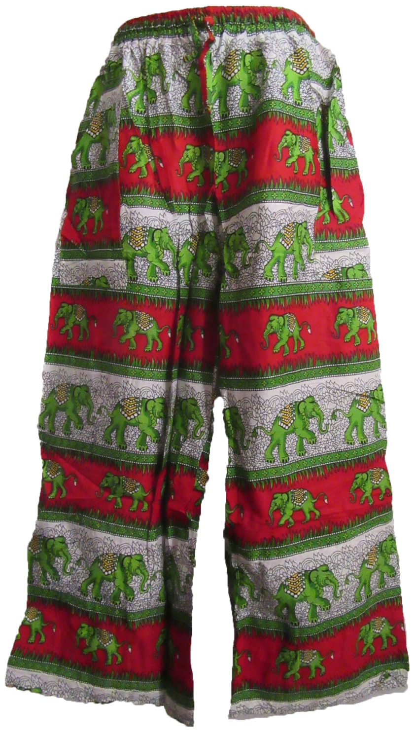 Funky elephant hippy trousers