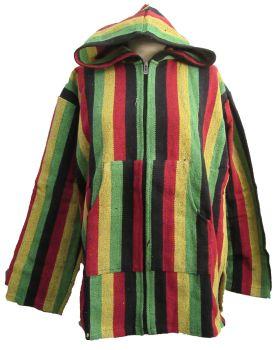Rasta colours  hooded jacket