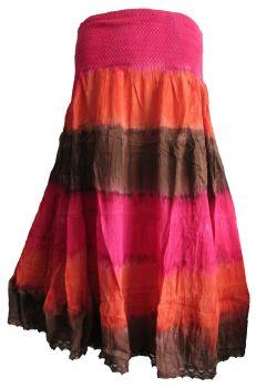 Gorgeous tie dye layer skirt