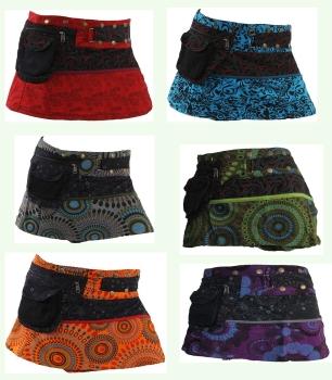Funky mini popper/pocket skirt