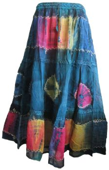 Beautiful tie dye embroidered skirt