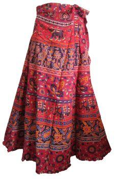 Gorgeous ethnic print wrap around skirt