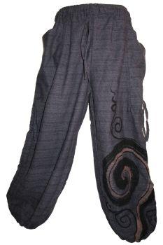 Unisex wave harem trousers