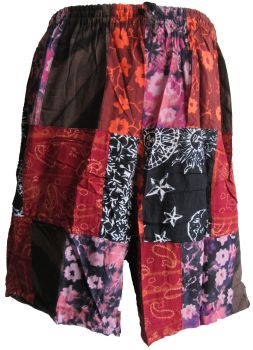 Funky patchwork hippy shorts