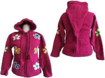 Funky Equador pixie flower hooded jacket