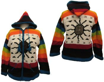 Funky normal hooded jacket