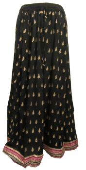 Beautiful gold print indian hippy skirt