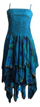 Tianna tie dye silk faery dress [plus size]