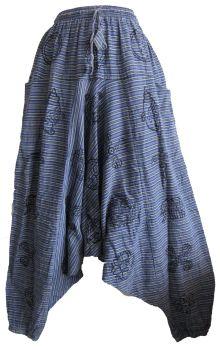 Unisex fine stripe printed trousers