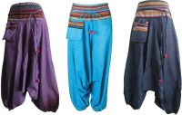 Harem tribal trimmed pocket pom pom trousers