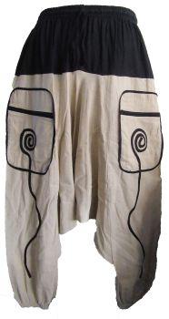 Harem spirals trousers