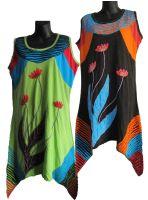 Sleeveless drip applique dress
