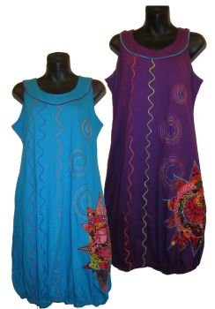 Sleeveless applique bubble  dress