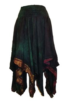 Rimini fae drip silk pixie skirt,hippy, faerie , belly dance