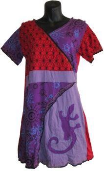 Faux crossover lizard dress