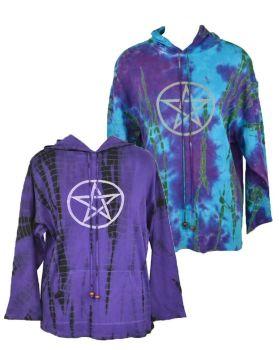 Tie dye pentagram hoodie