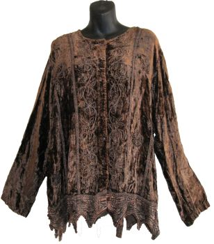 Gorgeous arizona velvety embroidered top