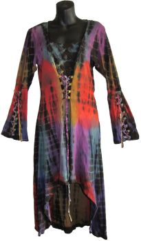 Tie dye hippy corset dress