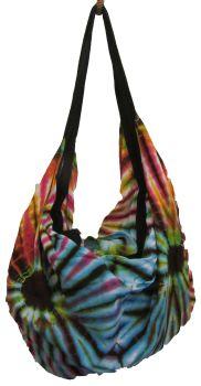 Yoga , hippy tie dye festival  bag