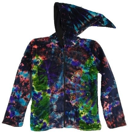 Gorgeous velvety cozy ined pixie hood jacket