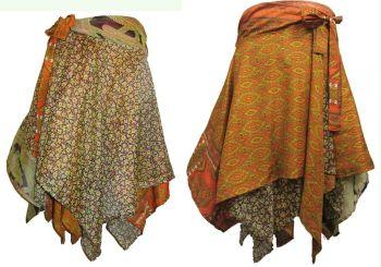 Pretty silk reversible pixie hem skirt, 2 looks from 1 skirt