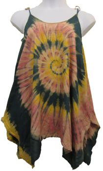 Funky hippy dippy  tie dye pixie top