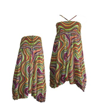 Pretty cotton harem trousers ,2 looks from one garment !