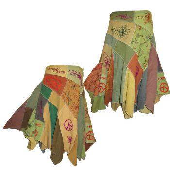 Gorgeous funky hippy pixie hem peace skirt