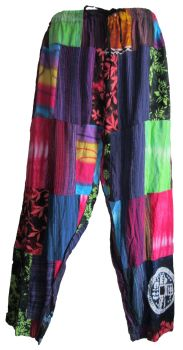 Funky hippy , festival patchwork trousers [plus size]