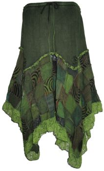 Gorgeous boho lace and  patchwork skirt , approx size 18-24
