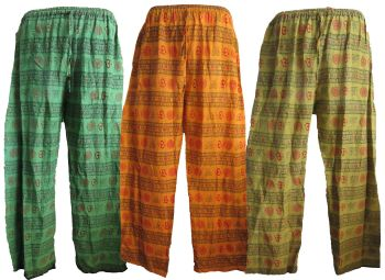 Casual cotton hippy trousers
