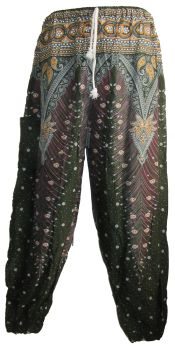 Gorgeous peacock feather style trousers